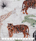 Novelty Cotton Fabric-Painted Safari On Map