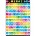 Smart Poly Chart 13\u0022x19\u0022 Numbers 1-100 10pk