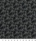 Quilter\u0027s Showcase Cotton Fabric -Leaves on Black