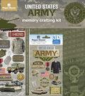 Paper House U.S. Military 12\u0027\u0027x12\u0027\u0027 Memory Crafting Kit-Army