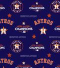 Houston Astros World Series Cotton Fabric