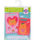 Vervaco I Stitch! Kits 4 Kids Embroidery Cards Kit-Cat & Cat