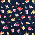 Knit Prints Double Brushed Fabric-Navy Floral