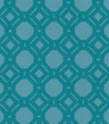 P/K Lifestyles Upholstery 8x8 Fabric Swatch-Level Off/Peacock