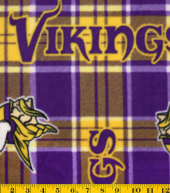 Minnesota Vikings Fleece Fabric -Plaids