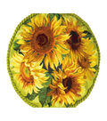 RIOLIS Cushion Counted Cross Stitch Kit 17.75\u0022X17.75\u0022-Sunflowers Cushion
