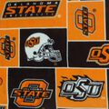 Oklahoma State Cowboys Fleece Fabric -Block