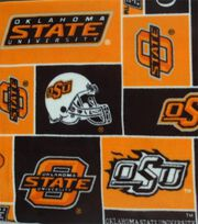 Oklahoma State Cowboys Fleece Fabric 58''-Block, , hi-res