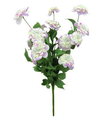 Fresh Picked Spring 19'' Paper Zinnia Bush-Pink & Cream