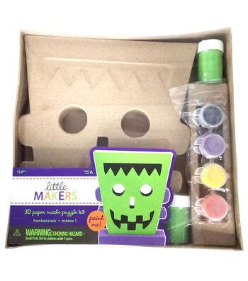 Little Maker's 3D Paper Mache Kit-Frankenstein Head