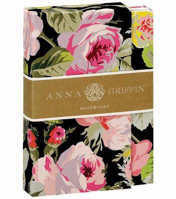 Anna Griffin Grace Black Floral Notebook Set