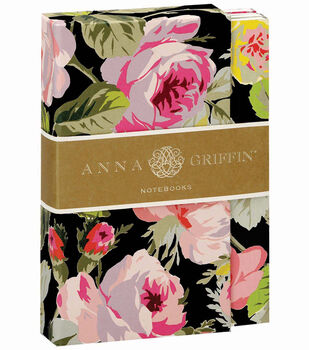 Anna Griffin Grace Black Floral Notebook Set