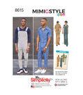 Simplicity Pattern 8615 Men\u0027s Jumpsuit & Overalls-Size AA (34-42)