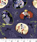 Disney Villains Halloween Cotton Fabric-Toss