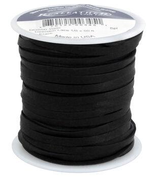 Realeather 50' Leather Lace Spool-Black