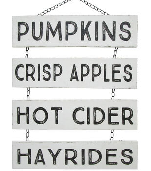 Simply Autumn Chain Panels Wall Decor-Fall Words