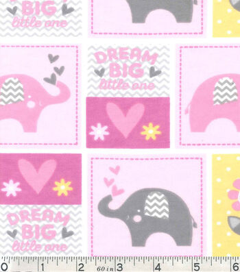 Nursery Flannel Fabric -Dream Big Patch
