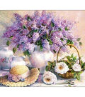 Collection D\u0027Art Diamond Embroidery/Printed/Gem Kit 48X38 cm-Lilac