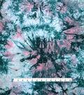 Knit Print Fabric 58\u0027\u0027-Green & Pink Spikey Tie Dye