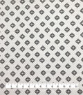 Silky Stretch Chiffon Fabric-White Black Diamonds
