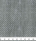 Wide Flannel Fabric-Gray Dots