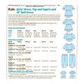 Kwik Sew Pattern K0261 Girls\u0027 Apparel & 18\u0027 Doll Dress-Size XXS-XS-S-M-L