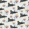 Pittsburgh Steelers Cotton Fabric -White
