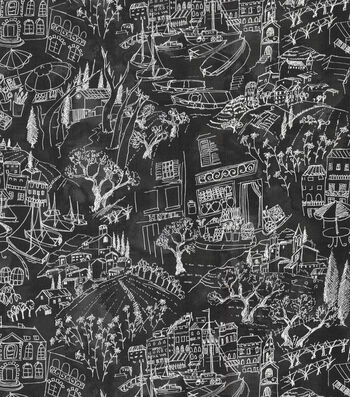 "Kelly Ripa Multi-Purpose Decor Fabric 54""-Daily Sketch Ebony"