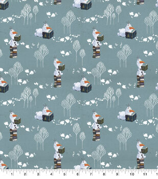 Disney Frozen 2 Cotton Fabric-Olaf Snows It All