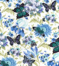Snuggle Flannel Fabric -Butterflies On Floral