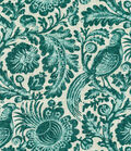 Williamsburg Lightweight Decor Fabric 54\u0022-Tucker Resist/Teal