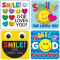 Carson Dellosa Smile God Loves You Stickers, 120 Per Pack, 12 Packs