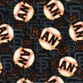 San Francisco Giants Fleece Fabric -Packed Logo
