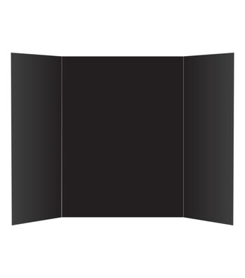 Elmer's 36''x48'' 1-Ply Corrugated Tri-Fold Display Board-Black