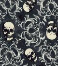 Halloween Cotton Fabric 43\u0022-Skull Damask