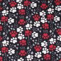 Blizzard Fleece Fabric-Black, White & Red Triangle Geo