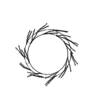 Maker's Halloween Wire Wreath Form-Black