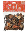 Flair Mega Bag of Buttons-Wood Coconut