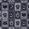 Halloween Cotton Fabric-Black Magic Cards Glow