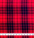 Cotton Shirting Fabric 42\u0027\u0027-Red & Black Plaid