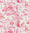 Home Decor 8\u0022x8\u0022 Swatch Fabric-Waverly Haiku Toile Azalea