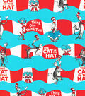 Dr. Suess Cat in The Hat Cotton Fabric -Wave Stripe