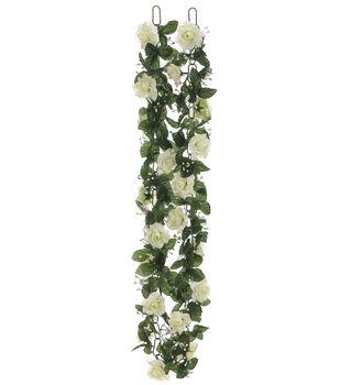 Bloom Room Rose Chain Garland-Cream