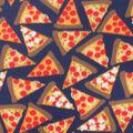 Blizzard Fleece Fabric-Pizza on Navy