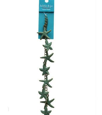 hildie & jo Strung Beads-Patina Metal Starfish