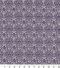 Quilter\u0027s Showcase Cotton Quilt Fabric -Damask Purple