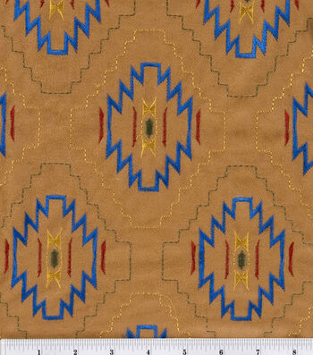 Alova Suede Fabric -Native Star