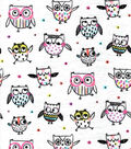 Snuggle Flannel Fabric-Multi Sketched Owls
