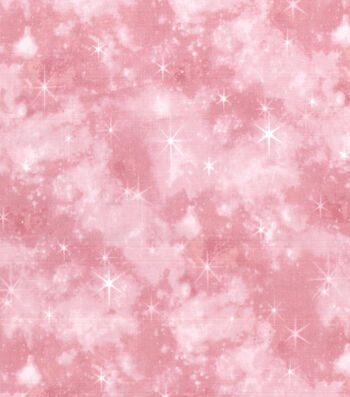 Premium Cotton Fabric-Pink Mermaid Galaxy
