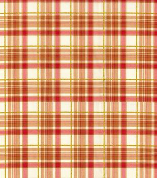 Harvest Cotton Fabric-Orange Bounty Plaid